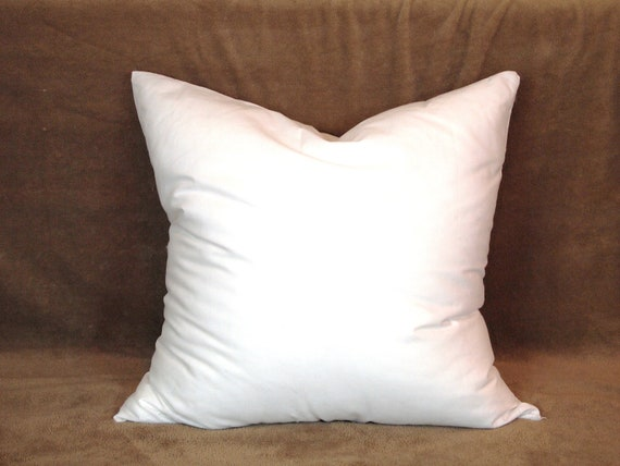 Throw Pillow Form Insert : 15x15 Synthetic Faux Down Pillow Form Insert for Craft / Throw Pillow Shams from peteuga on Etsy ...