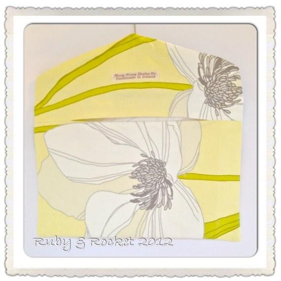 Peg Bag- Rag Bag - Yellow Floral Retro