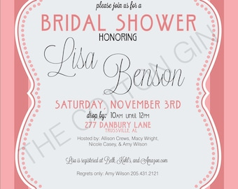 Pretty in Pink Bridal Shower Invitation