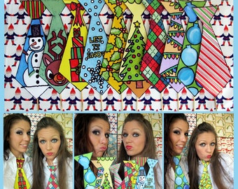 Ugly Christmas Ties photo booth props - the different kind of Christmas props perfect for your Christmas party