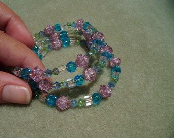 muticolored memory wire bracelet