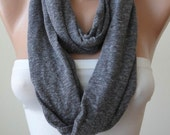 Infinty - Loop - Grey Scarf - Combed Cotton Fabric for Summer -