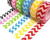 Washi Tape Trendy Tape -  Chevron Decorative Trendy Paper Packaging Tape - 10 yards - - swigshoppe