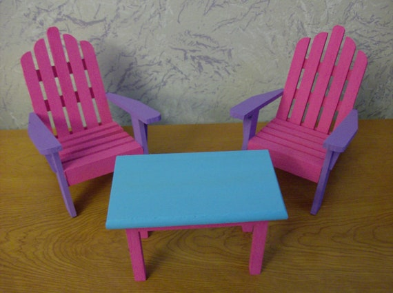 Fashion Barbie Furniture Chairs and Table Set