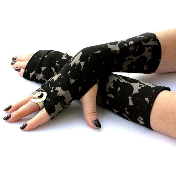 Grunge Camo Arm Warmers Fingerless Gloves Grange