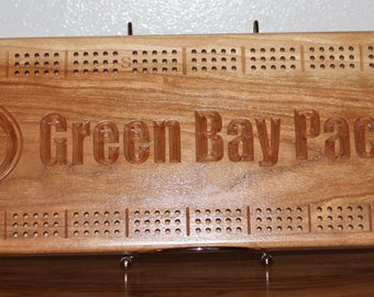 Green Bay Packer Board Made From Cherry Wood