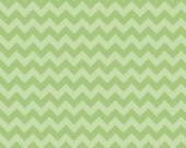 Small Tone on Tone Green Chevron: Riley Blake Designs - 1/2 Yard Cut