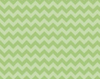 Small Tone on Tone Green Chevron: Riley Blake Designs - 1/2 Yard Cut