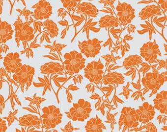 Peony in Tangerine: Novella Collection by Valori Wells 1 Yard Cut