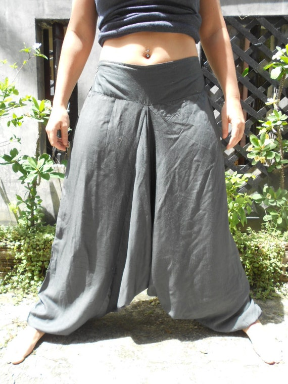 Steel Grey Unisex Harem pants