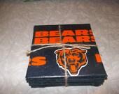 4-piece Ceramic Coaster Set (Chicago Bears, Minnesota Vikings, Colts, Denver Broncos, Dallas Cowboys)