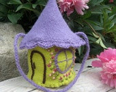 Gnome House Wool Purse in bright colors, hand knitted, available in DIFFERENT COLORS