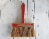 """Broom / Industrial Masonry / Short Wood Wooden Handle / Red Paint Broom Rustic Farmhouse Prim Cabin No. 4627 Clover 7"""" Queen / epsteam"""