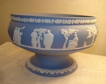 """Wedgwood Jasperware Footed Imperial Bowl, 8"""""""