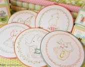 """Embroidery Patterns PDF - 26 """"In A Little Teacup"""" Animal Alphabet Patterns"""