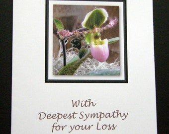 Lady Slipper Sympathy Card