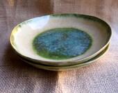 Green-Blue and Cream Wide Multi-purpose Bowls