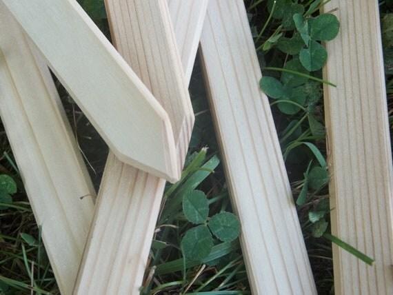 "Plant markers, spanish cedar wood stakes set of six 16"" long long garden markers vegetable gardening gardeners gift gardener outdoors wooden"