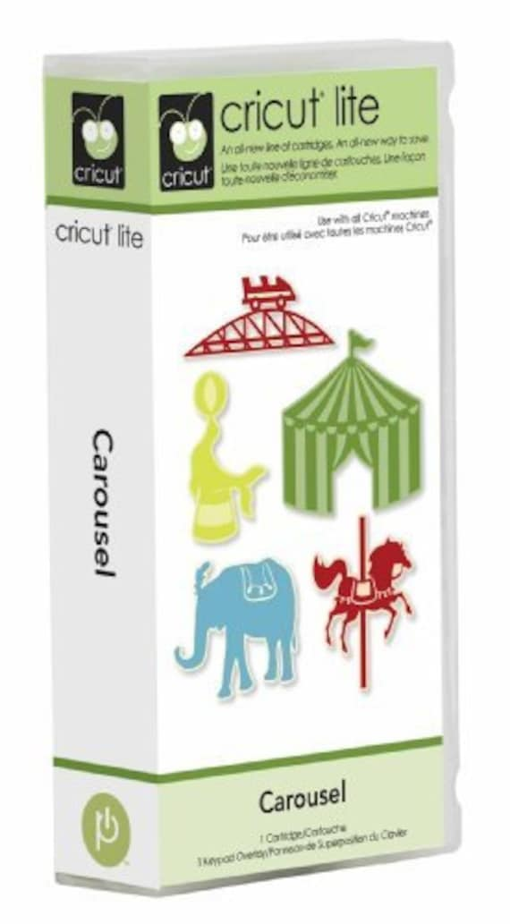 Cricut Cartridge - CAROUSEL  -  Carnival and Circus THemed  - RETIRED and RARE