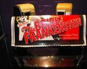 DIY Bride of Frankenstein magazine vinyl glitter  wallet