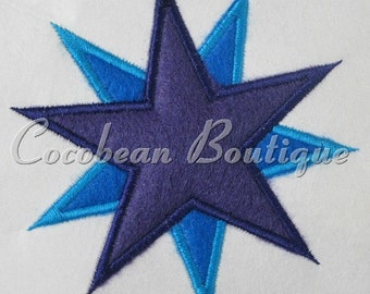 Star embroidery applique