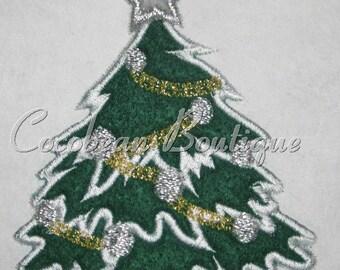 embroidery applique xmas tree