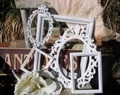 Picture Frame - Set Of Upcycled Frames - Picture Frame Set - Vintage Stlye Shabby Chic Frames