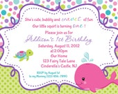 Pink Whale Birthday Invitation - Personalized Custom Whale Invitation Birthday Baby Shower - Print Your Own