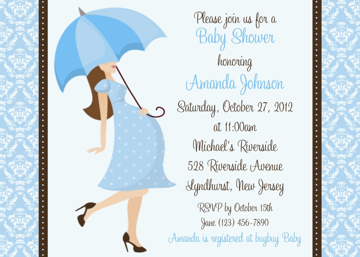 baby boy shower cards template