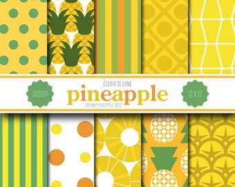 Pineapple Digital Scrapbook-Commercial Use 1 year