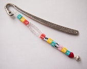 Letters bookmark, heart and jingle bell, kawaii & cute colours
