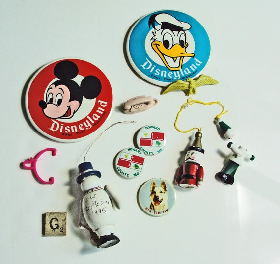Vintage Collage Assemblage Art Findings Destash - Christmas Crafting Jewelry Making Supplies Lot