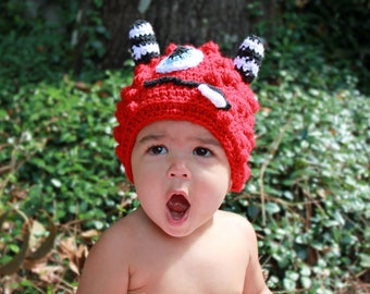 Newborn/Toddler Muno Monster Hat/Baby Photo Prop