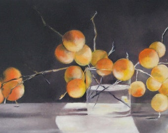 """Original oil painting, Still Life """"Time Suspended""""."""