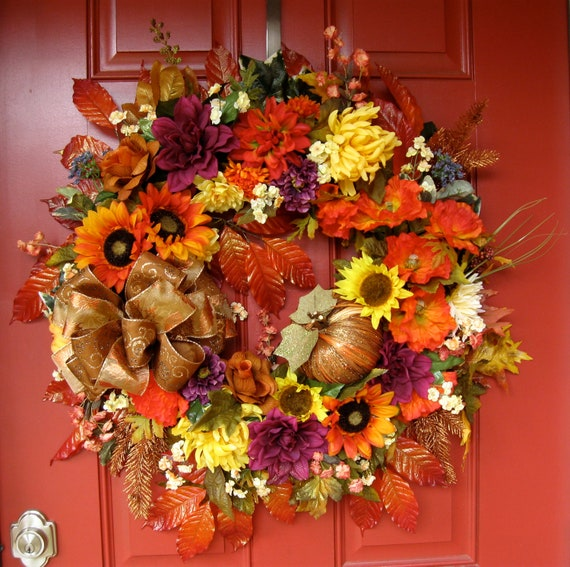 Dreaming of Fall Wreath, Tuscan, X-Large, SALE