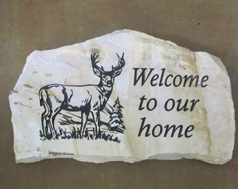 Deer Welcome Stone