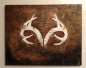 """Acrylic Antlers Canvas Painting 16""""x20"""""""