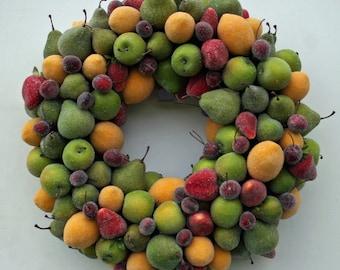 Fruit Wreath, Sugared Fruit Wreath