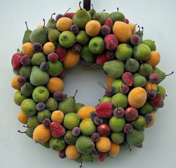 Fruit Wreath, Sugared Fruit Wreath