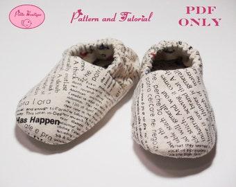 Baby shoe pattern - Linen Letters Sneaker Shoes