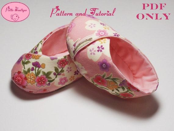Baby shoe pattern - Sakura Kimono Shoes