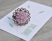 Chrysanthemum Ring - Lilac