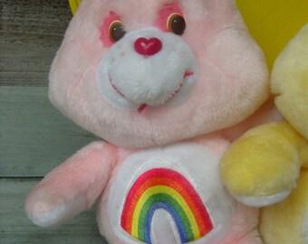 1983 patent pending Care Bear stuffed animal, Cheer Bear, Care Bear birthday party