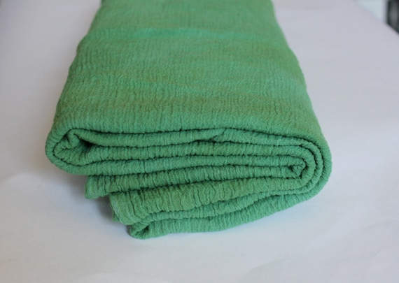 Hand Dyed Cotton Gauze Swaddle Blanket in Kelly Green