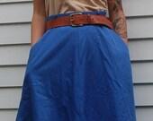 Vintage Women's Blue Circle Skirt