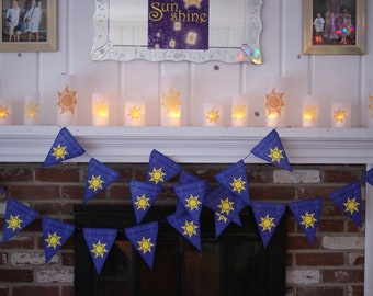 Rapunzel Party Pack - Lanterns and the banners of Corona...