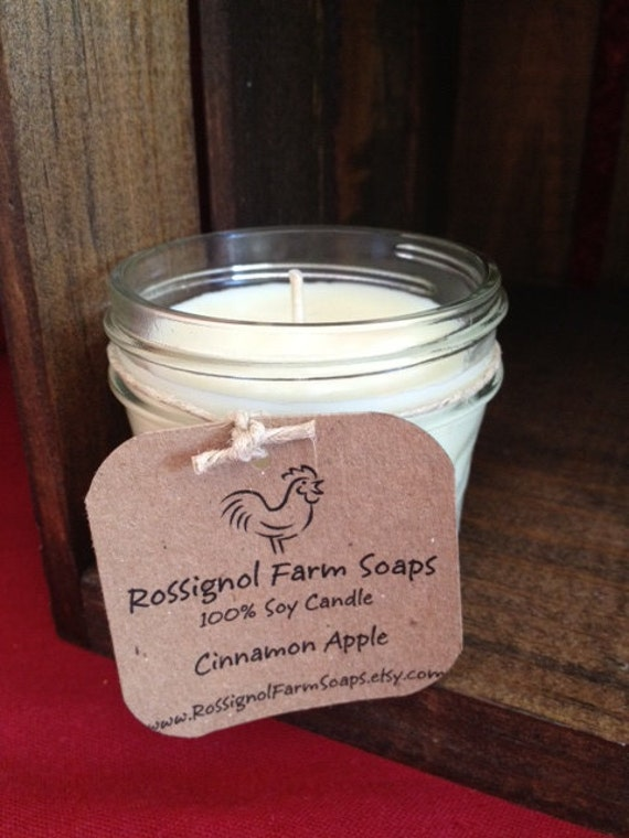 Cinnamon Apple Soy Candle in 4oz Jelly Jar