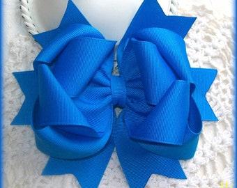 Blue Hair Bow.....Girls Hair Bow...Boutique Hair Bow...Toddler Hair Bow...Infant Hair Bow