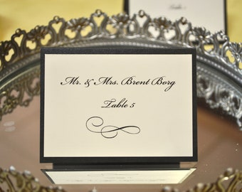 PLACE CARD - Escort Card - for Wedding, Special Occasion, Bar/bat Mitzvah, communion, Personalized with Colors, Name, & Table