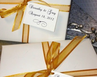 WEDDING FAVOR TAGS - with embellishment customized, personalized, elegant